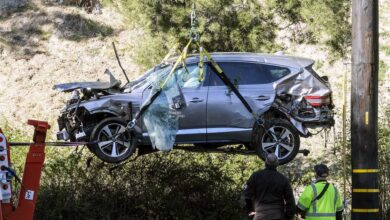 Photo of Tiger Woods moved to Cedars-Sinai to continue recovery after crash