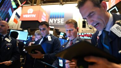 Photo of US stocks tumble from record highs as tech shares drag indexes lower