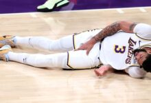 Photo of Lakers' Davis (groin) questionable for Game 5
