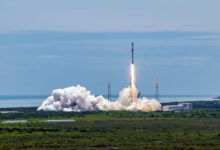 Photo of Falcon 9 launches GPS satellite in first national security mission with reused booster